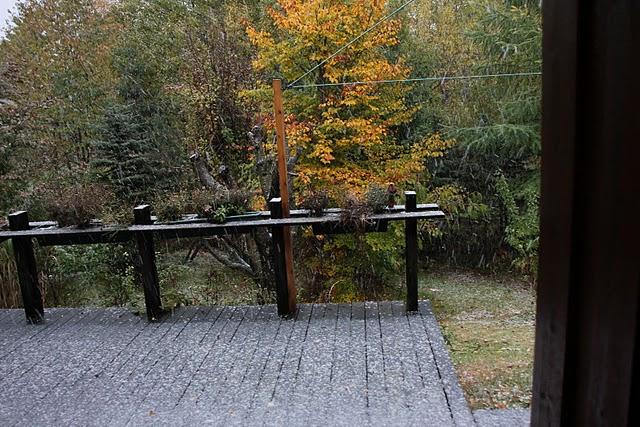 so sieht es also aus wenn es etwa 1-2 stunden leicht geschneit hat