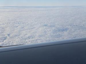mehr Wolken wie Schnee
