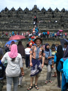 Borobudur Tempel - Eingang