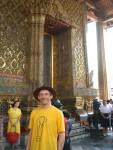 An der Rückseite des Wat Phra Kaeo