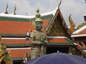 Ein Wächter des Tempels