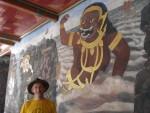 Eine Bildergeschichte um den ganzen Tempel über dem Kampf von Gut und Böse