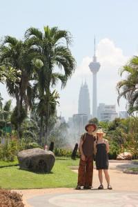 Blick vom Orchideengarten in die Stadt